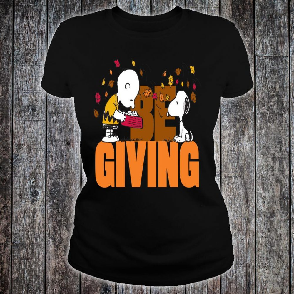 Funny Peanuts Snoopy Woodstock Thanksgiving Shirt ladies tee