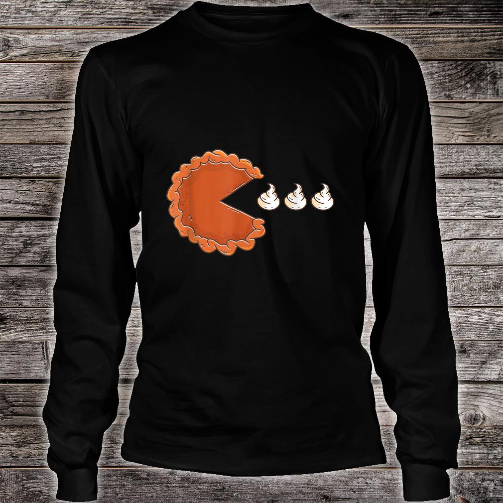 Funny Pie Eating Creme Shirt long sleeved