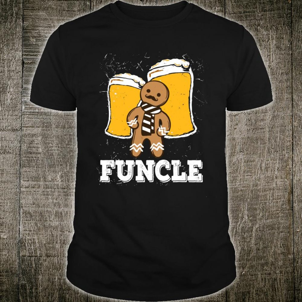 Funny Uncle Funcle Beer cookie uncle Shirt