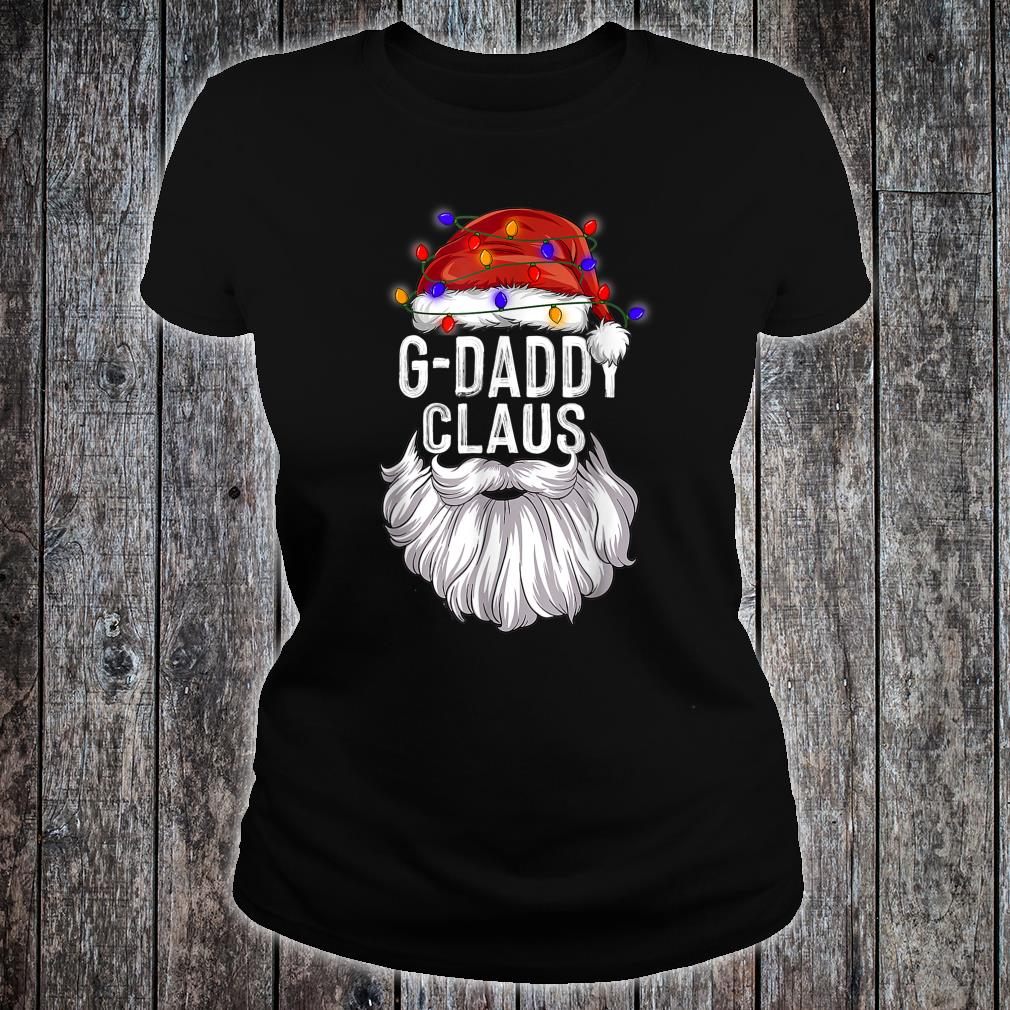 GDaddy Claus Hat Santa Beard Matching Family Pajama Shirt ladies tee
