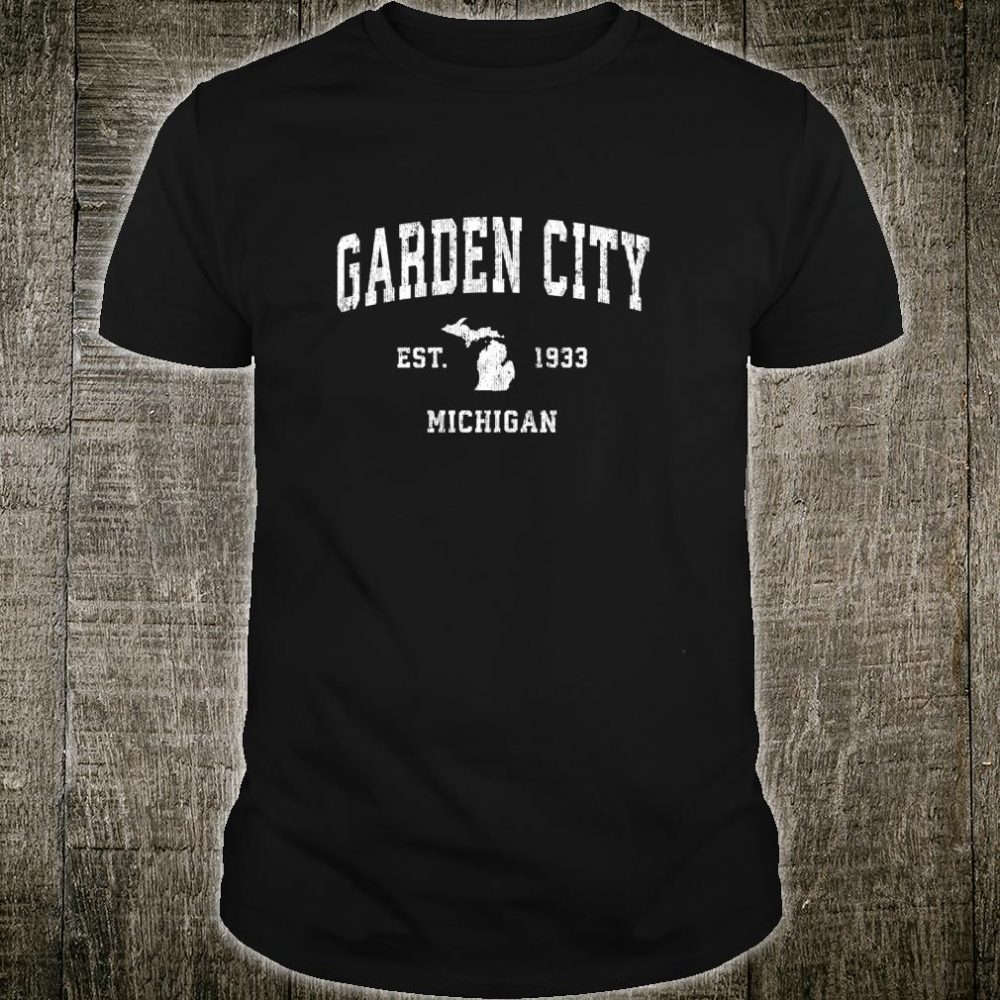 Garden City Michigan MI Vintage Athletic Sports Design Shirt