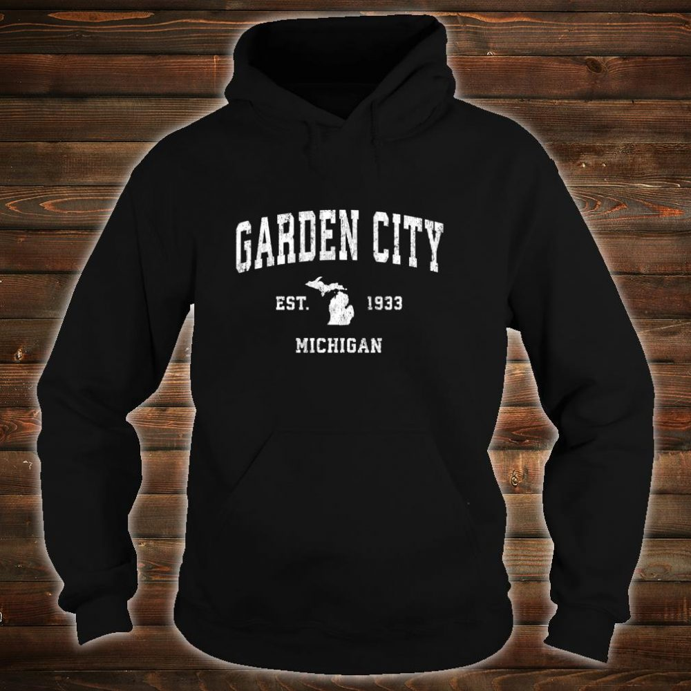 Garden City Michigan MI Vintage Athletic Sports Design Shirt hoodie