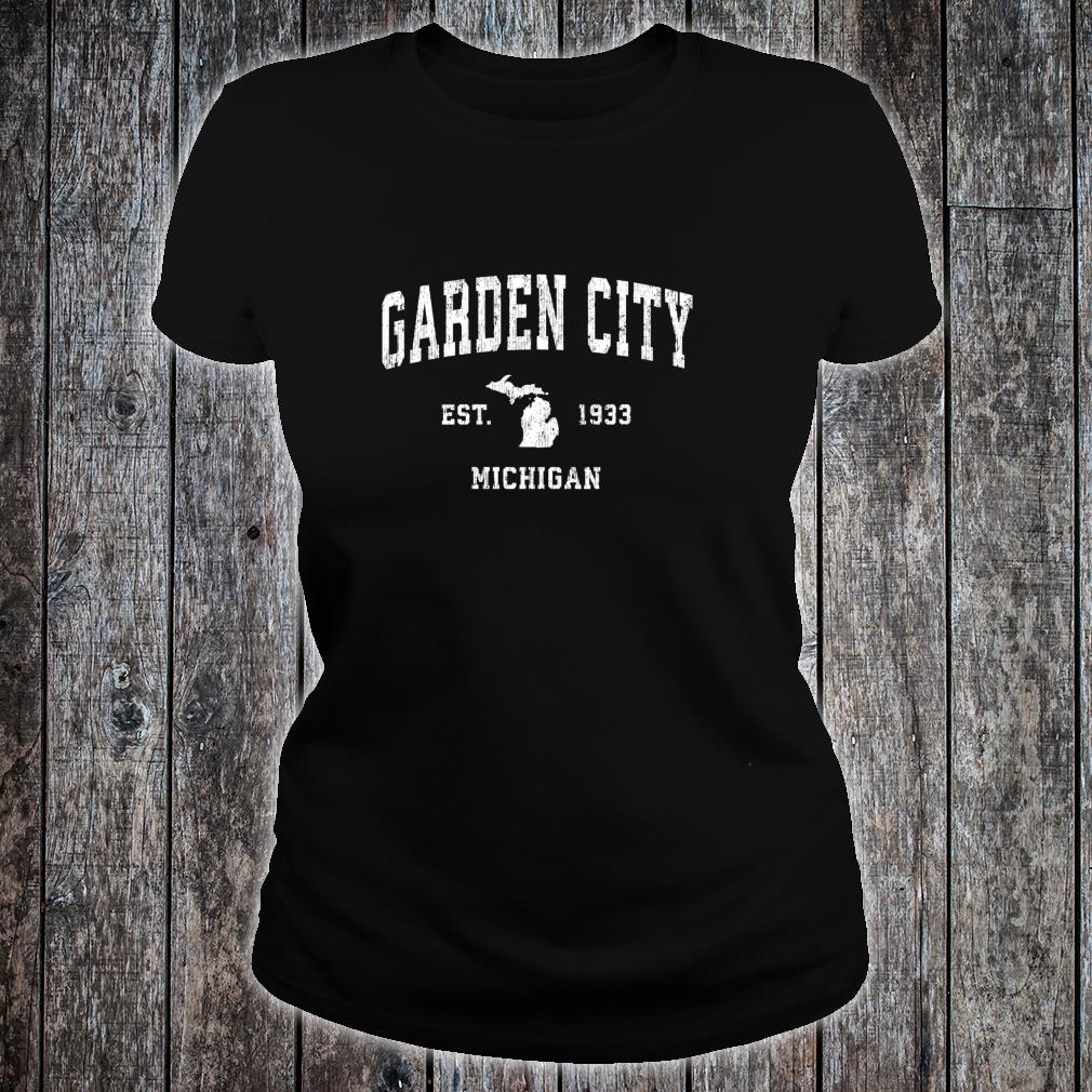 Garden City Michigan MI Vintage Athletic Sports Design Shirt ladies tee
