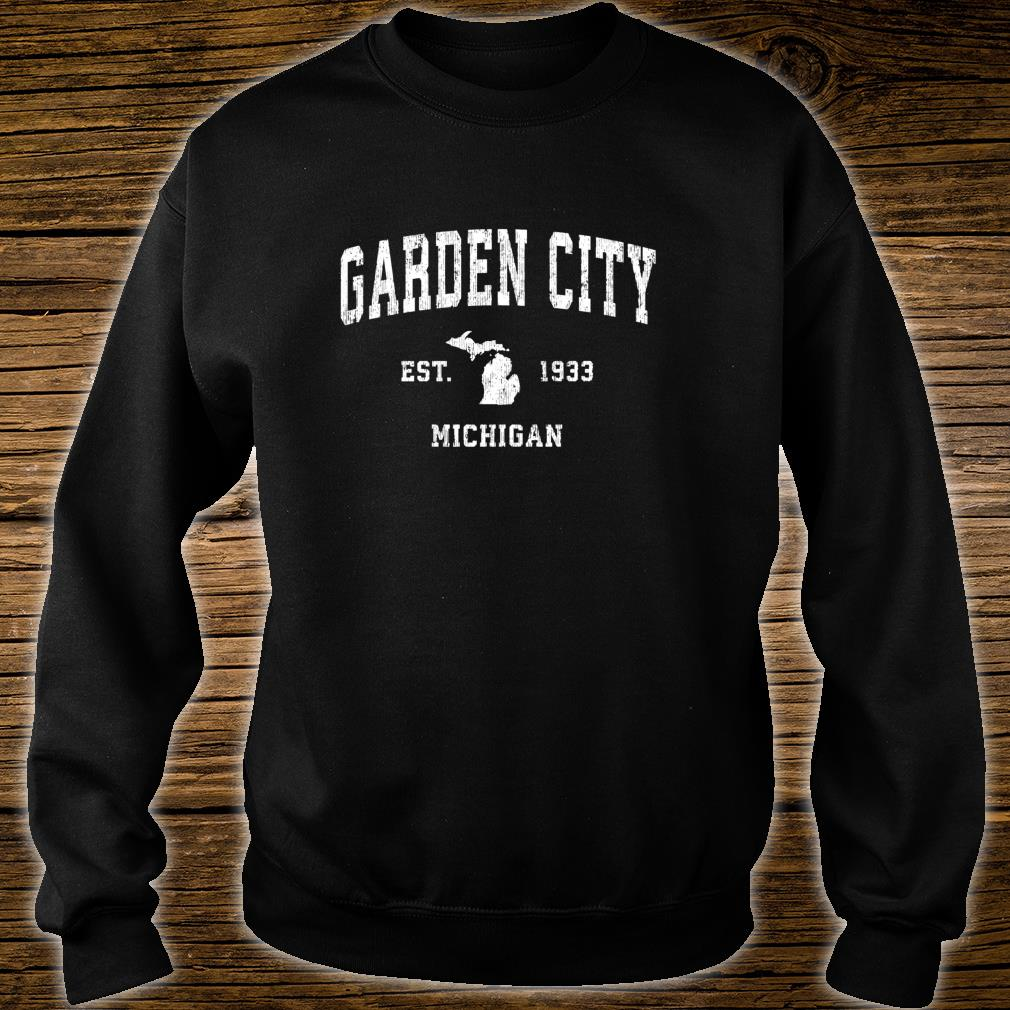 Garden City Michigan MI Vintage Athletic Sports Design Shirt sweater