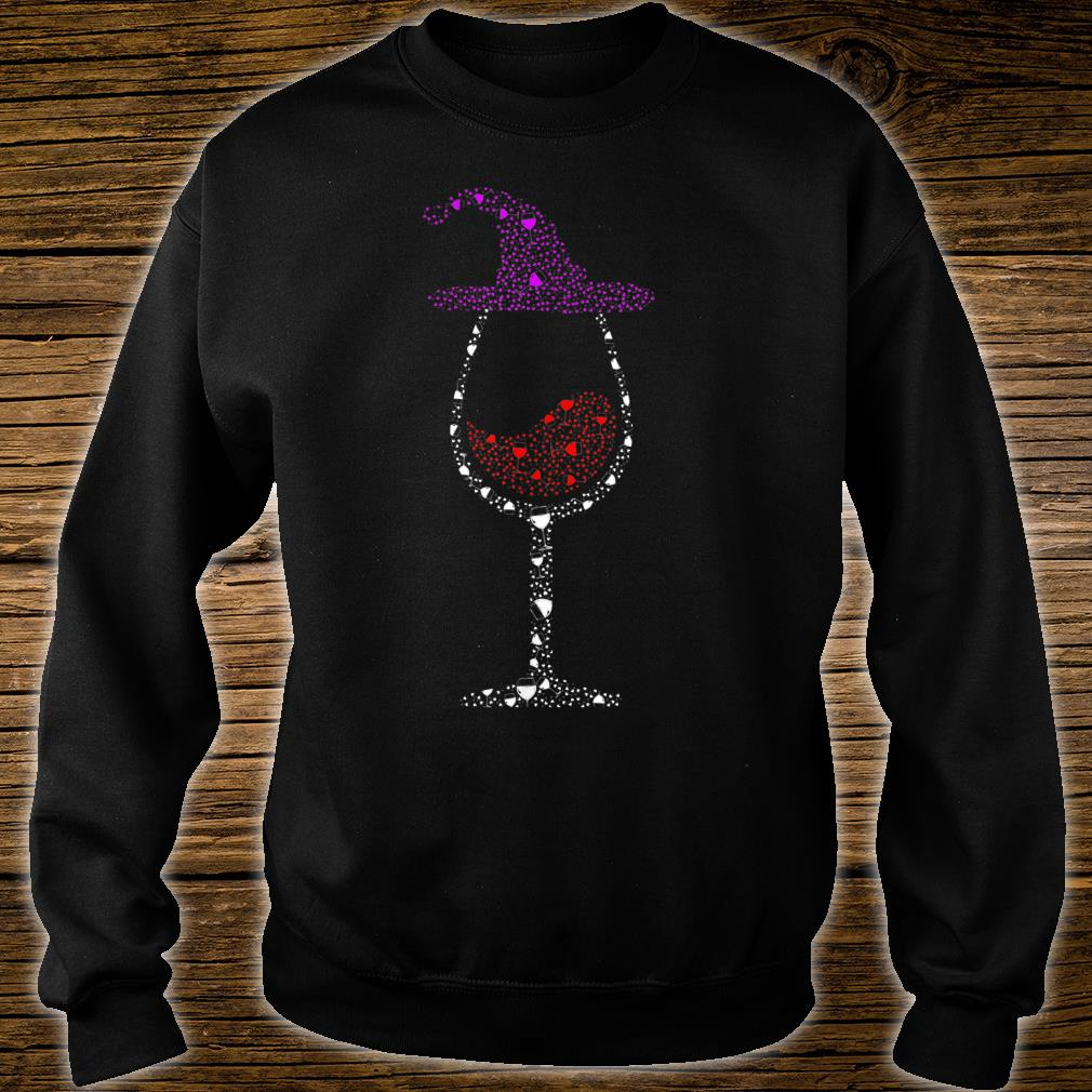 Glass Of Wines Witch Hat Cute Halloween Shirt sweater
