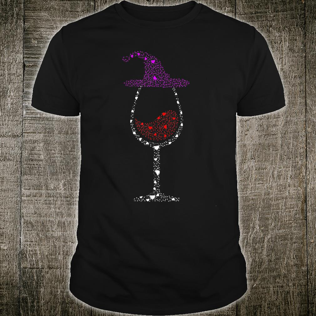 Glass Of Wines Witch Hat Cute Halloween Shirt