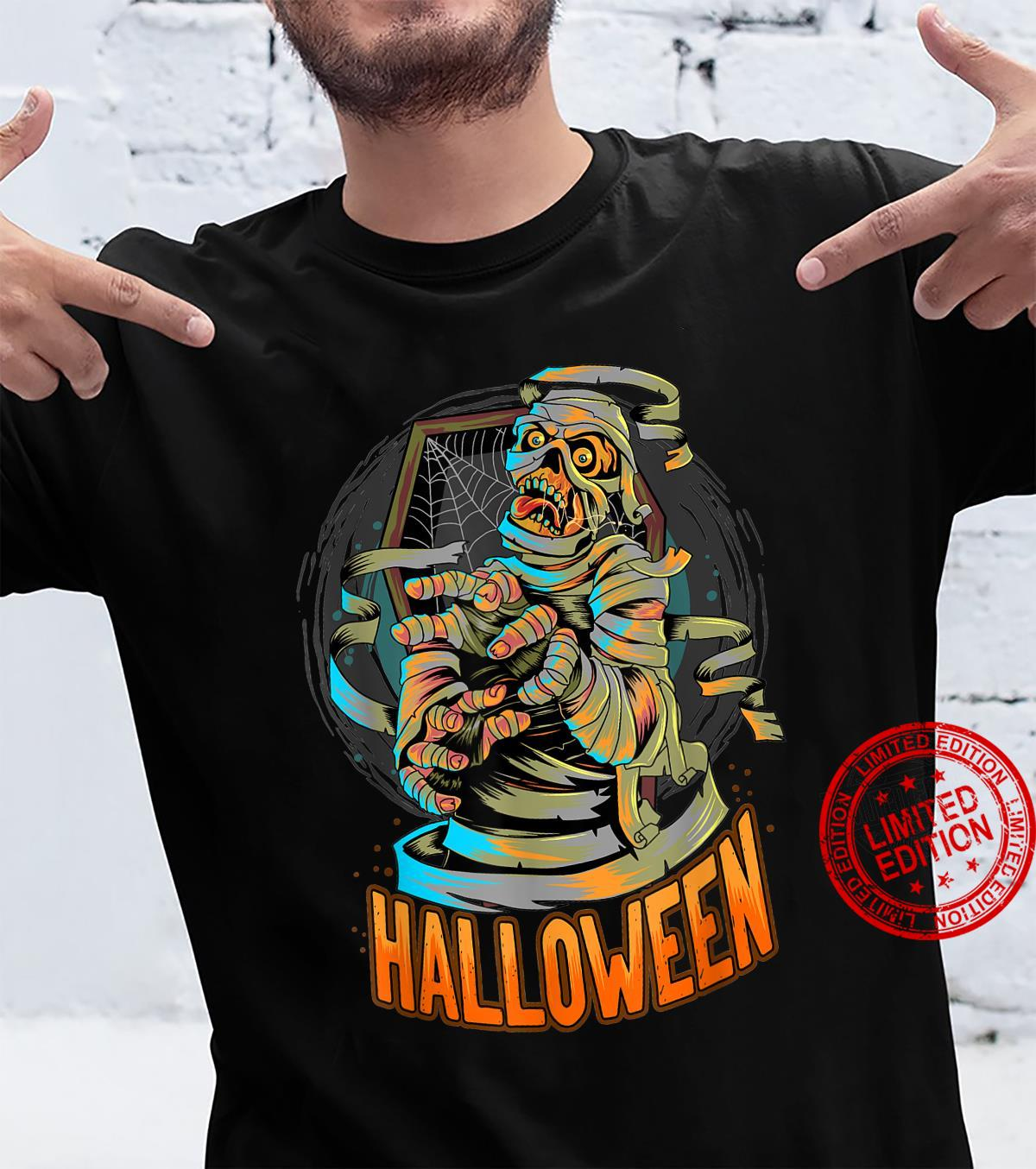 Halloween Egypt Mummy Comes Out Of The Coffin Shirt
