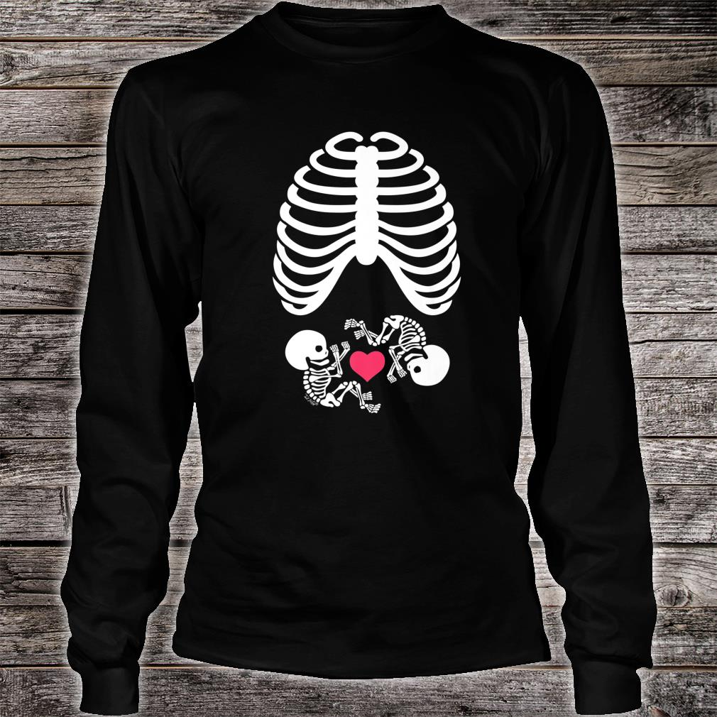 Halloween X-Ray Pregnancy Expecting Twins Baby Love Shirt long sleeved
