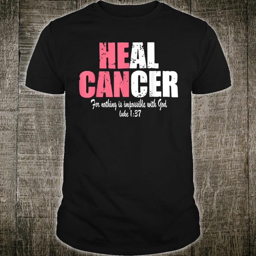 Heal Cancer Awesome Breast Cancer Awareness Shirt