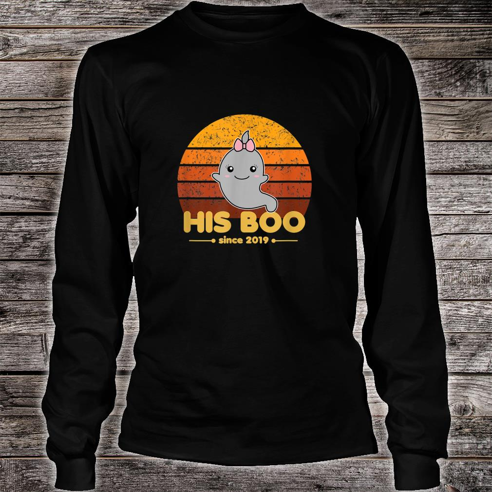 His Boo Since 2019 Matching Halloween Ghost Newlywed Couple Shirt long sleeved