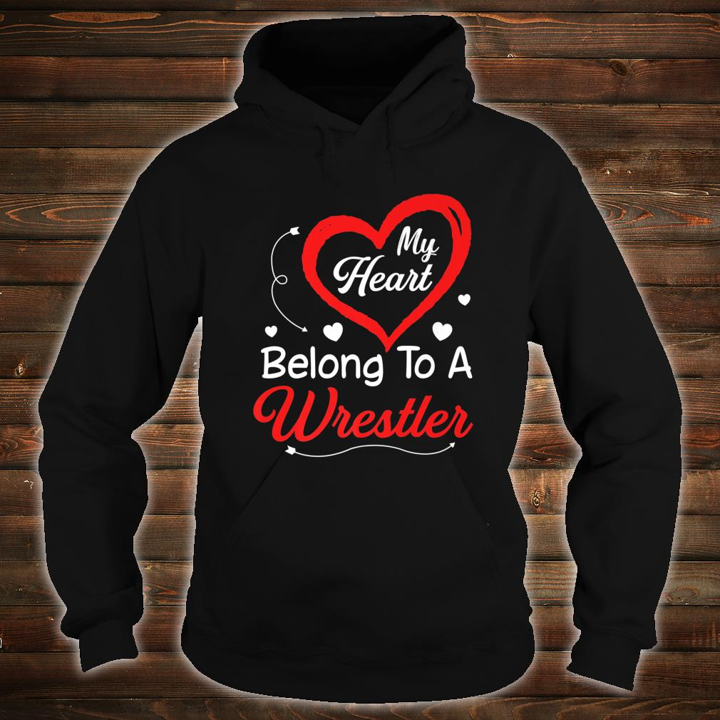 I Love My Wrestler Husband Shirt Wife Valentines Day Shirt hoodie