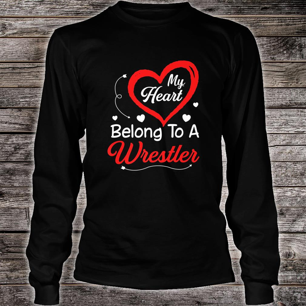 I Love My Wrestler Husband Shirt Wife Valentines Day Shirt long sleeved