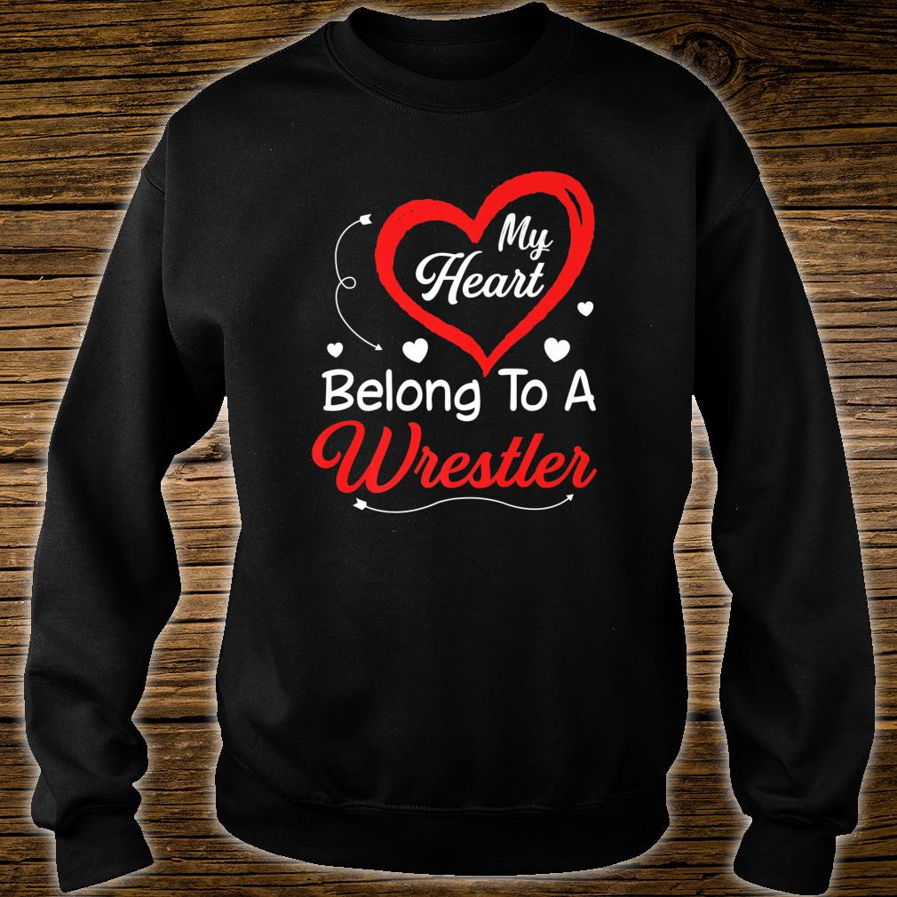 I Love My Wrestler Husband Shirt Wife Valentines Day Shirt sweater