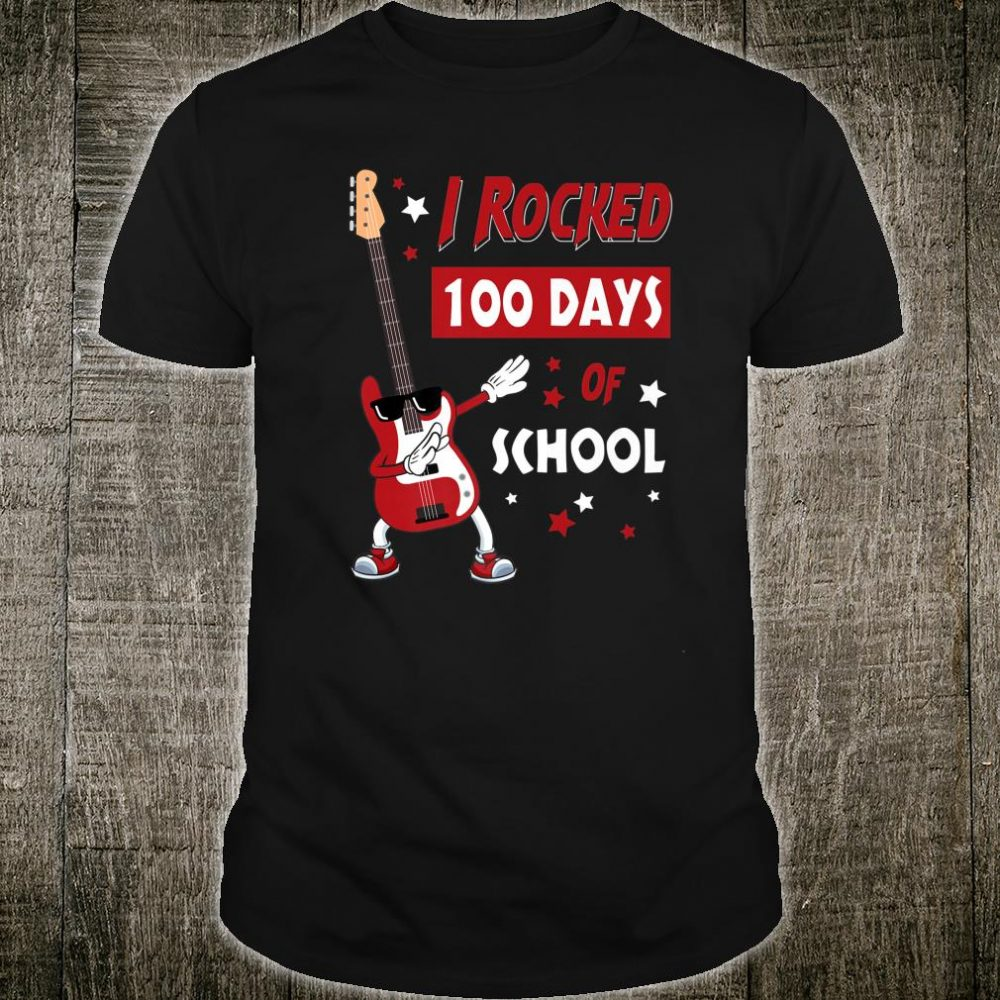 I Rocked 100 Days of School Dabbing Guitar Shirt