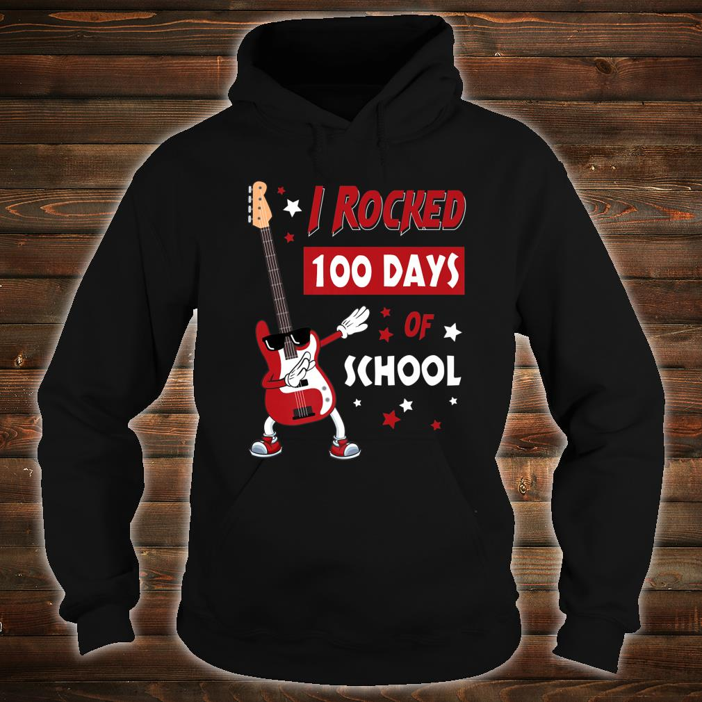 I Rocked 100 Days of School Dabbing Guitar Shirt hoodie