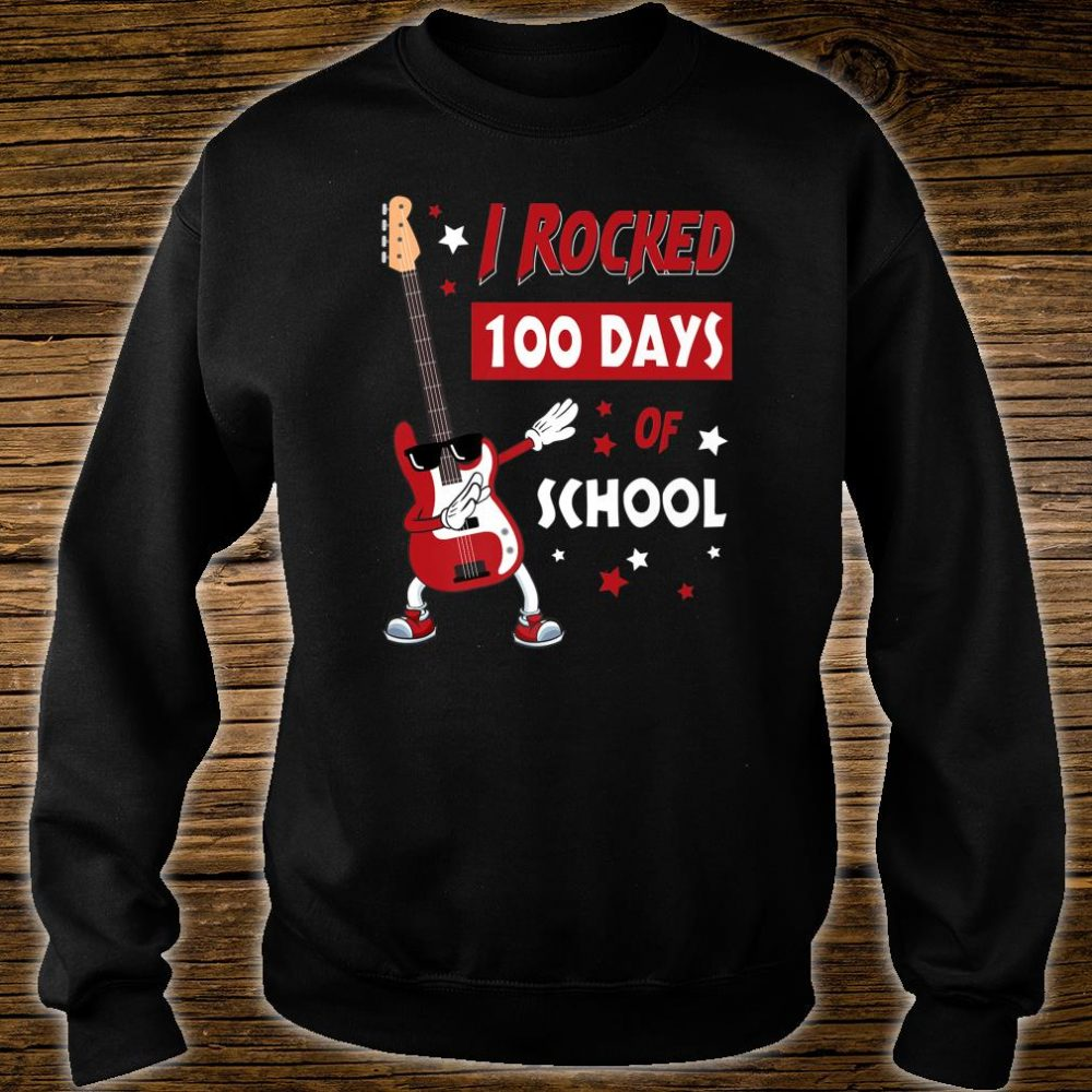 I Rocked 100 Days of School Dabbing Guitar Shirt sweater