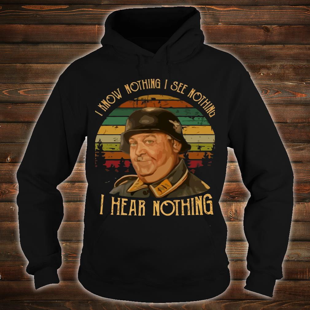 John Banner I know nothing I see nothing I hear nothing shirt hoodie