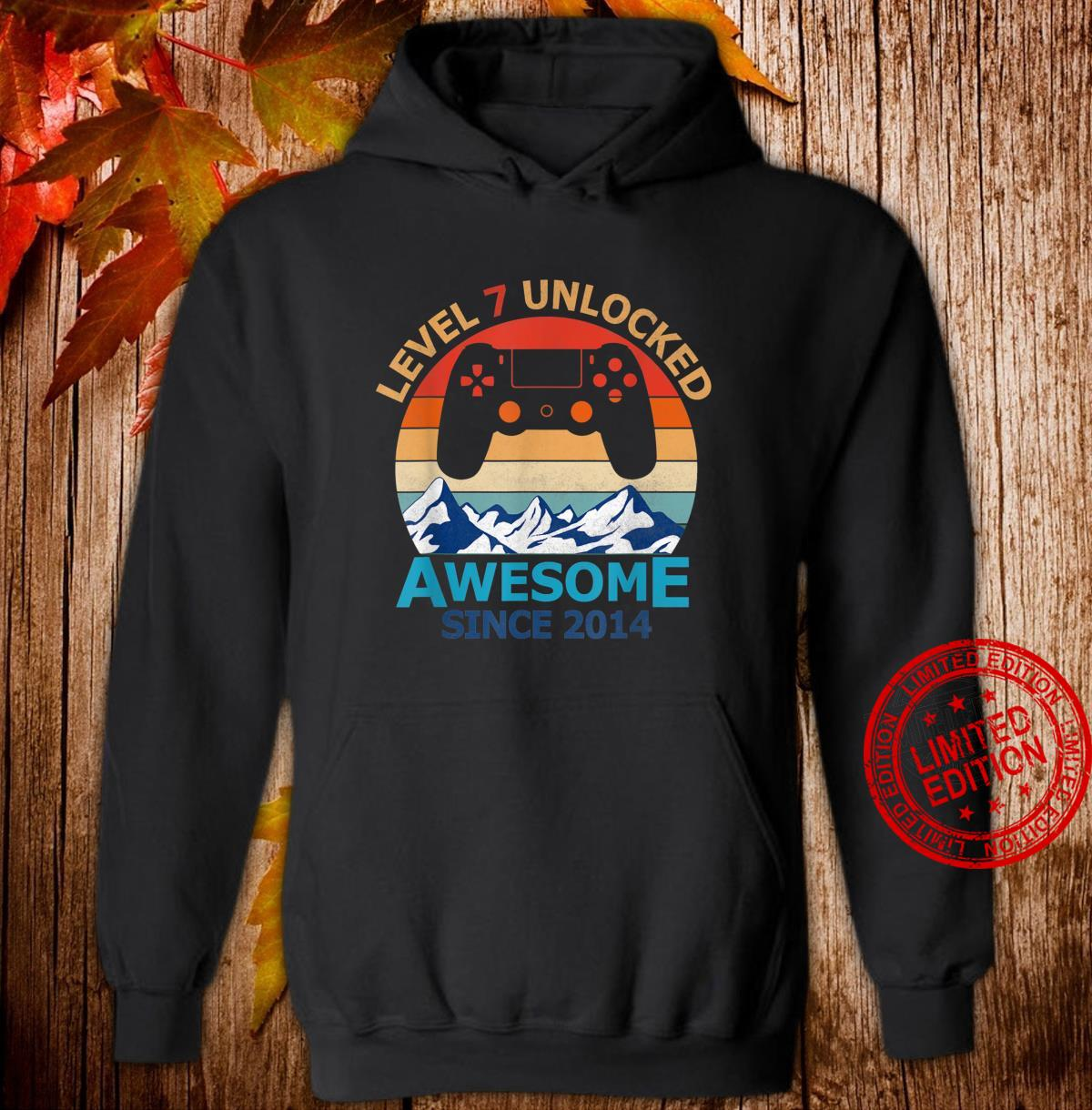 Level 7 Unlocked Birthday 7 Years Old Awesome Since 2014 Shirt hoodie