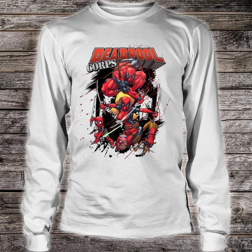 Marvel Deadpool CORPS Family Attack Poses Shirt long sleeved