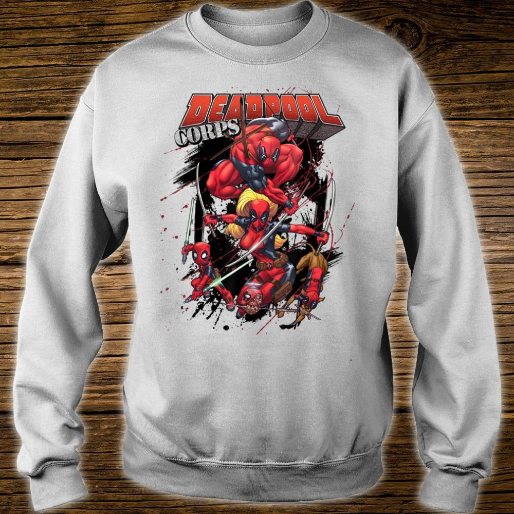 Marvel Deadpool CORPS Family Attack Poses Shirt sweater