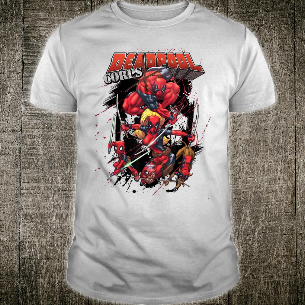 Marvel Deadpool CORPS Family Attack Poses Shirt