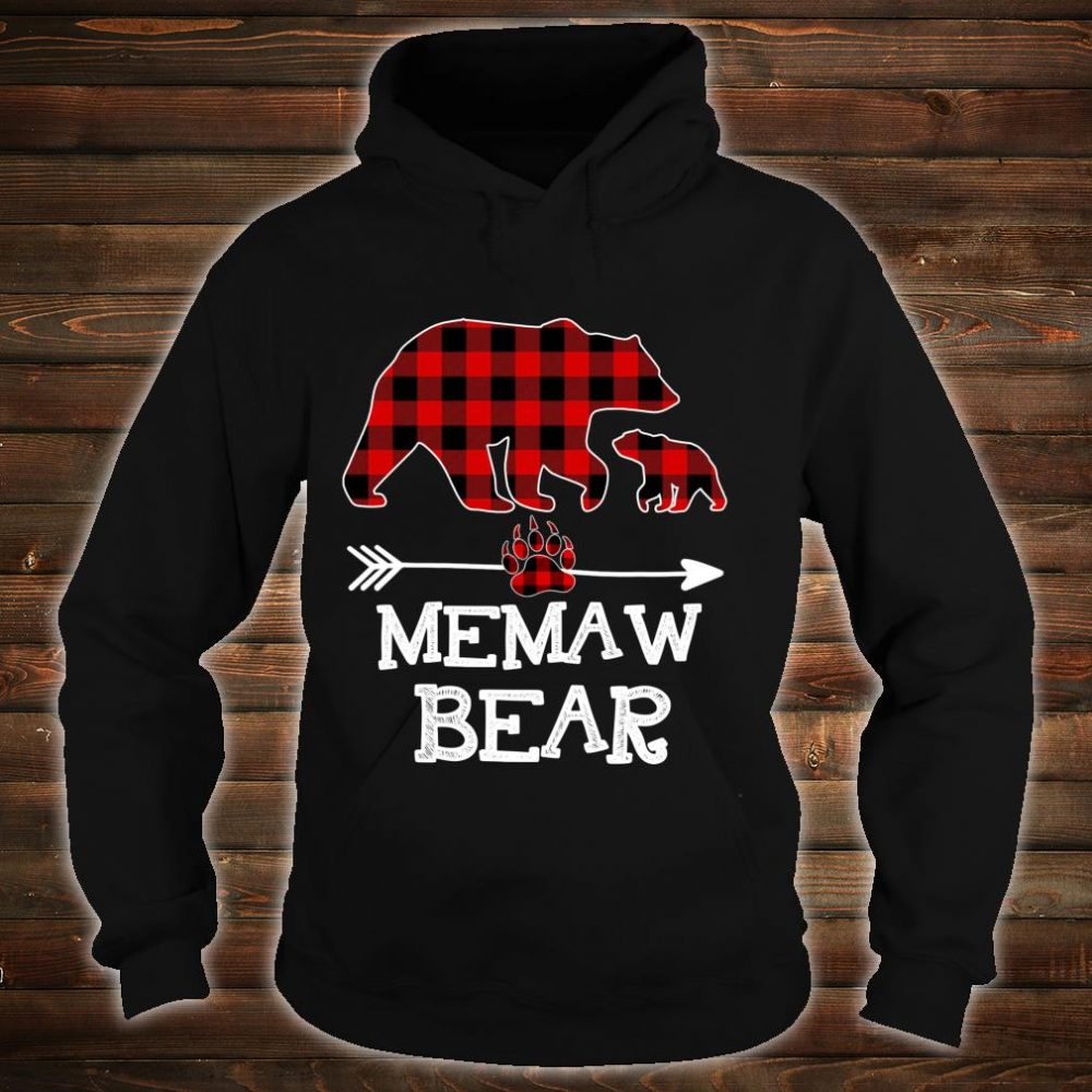 Memaw Bear Christmas Pajama Red Plaid Buffalo Family Shirt hoodie