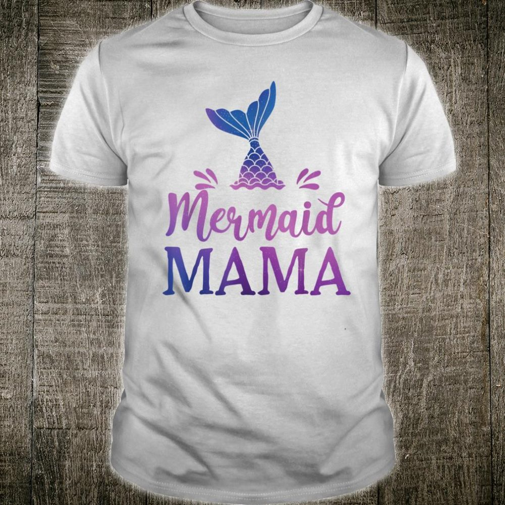 Mermaid Mama Grandfather Family Matching Birthday Shirt