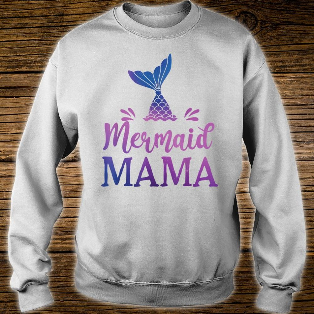 Mermaid Mama Grandfather Family Matching Birthday Shirt sweater