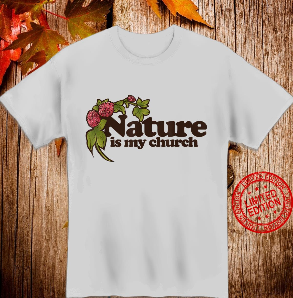 Nature is my Church Pagan Pride Red Clover Art Shirt