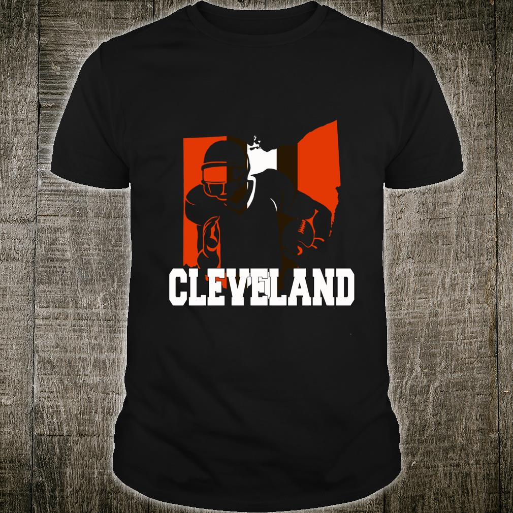 Ohio Cleveland shirt Stripe Football Fans Shirt