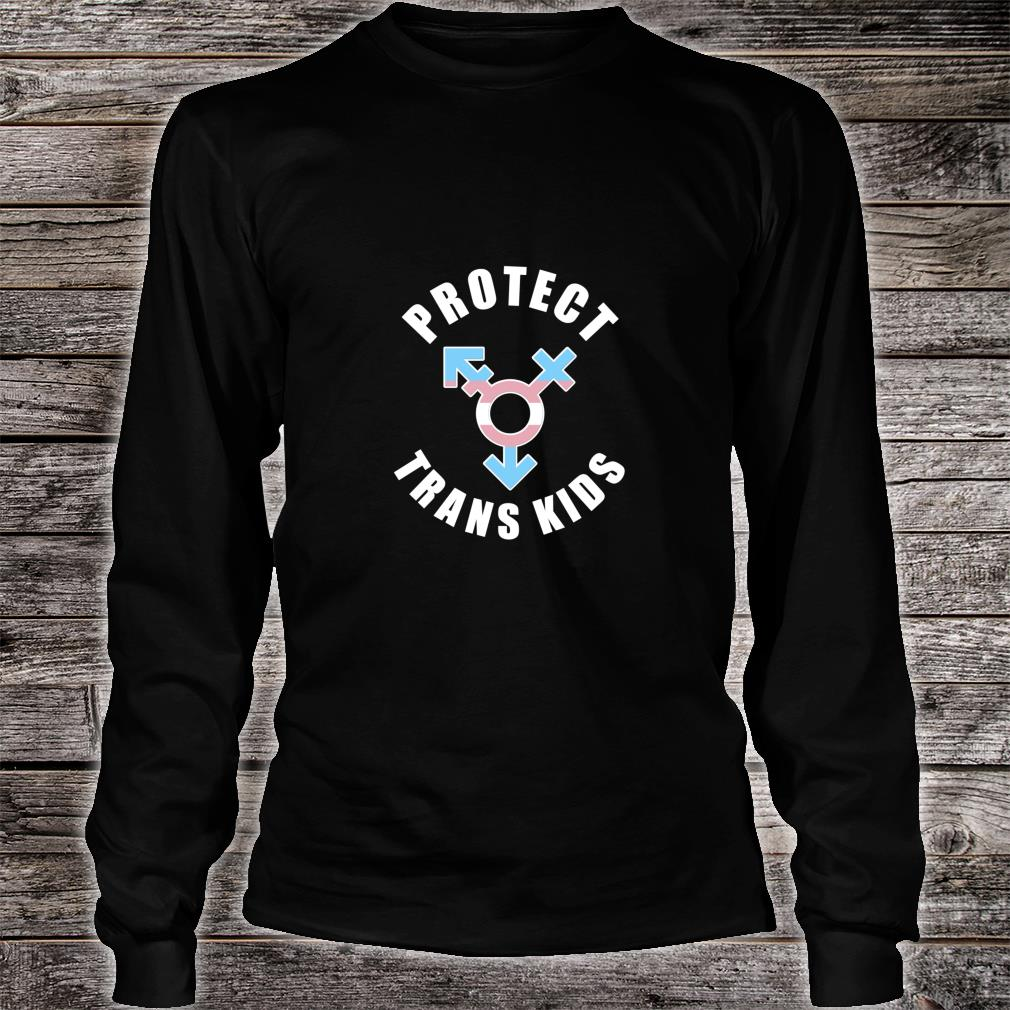 PROTECT TRANS Statement LGBTQ Shirt long sleeved