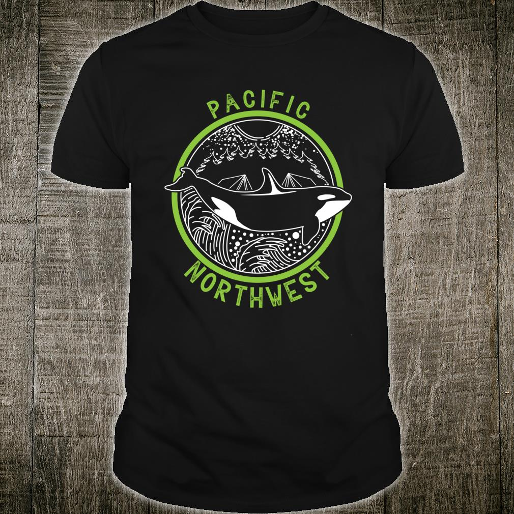 Pacific Northwest Orca Whale Tree Mountain Ocean PNW Gift Shirt