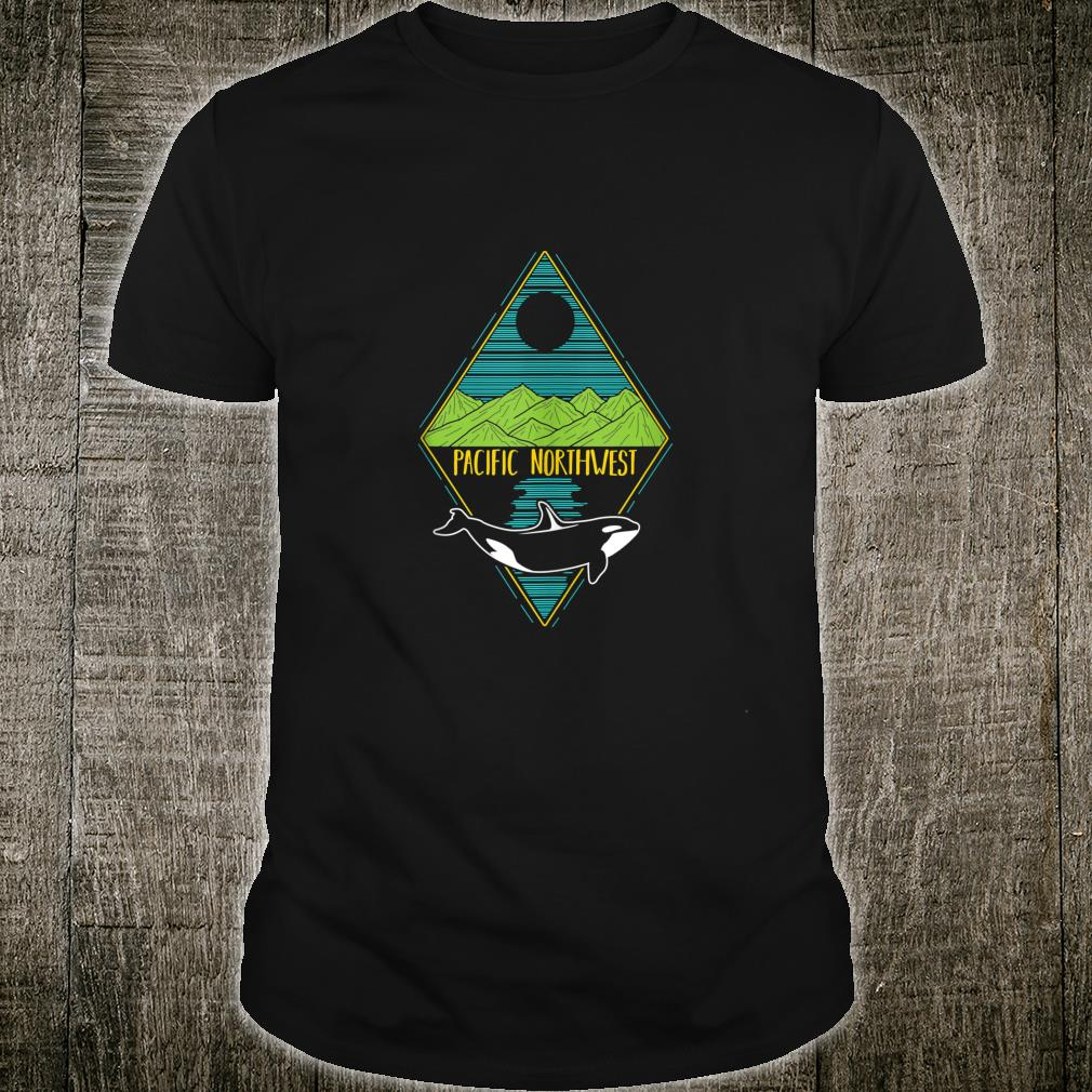 Pacific Northwest Orca Whale Tree Mountain Ocean PNW Shirt (3)