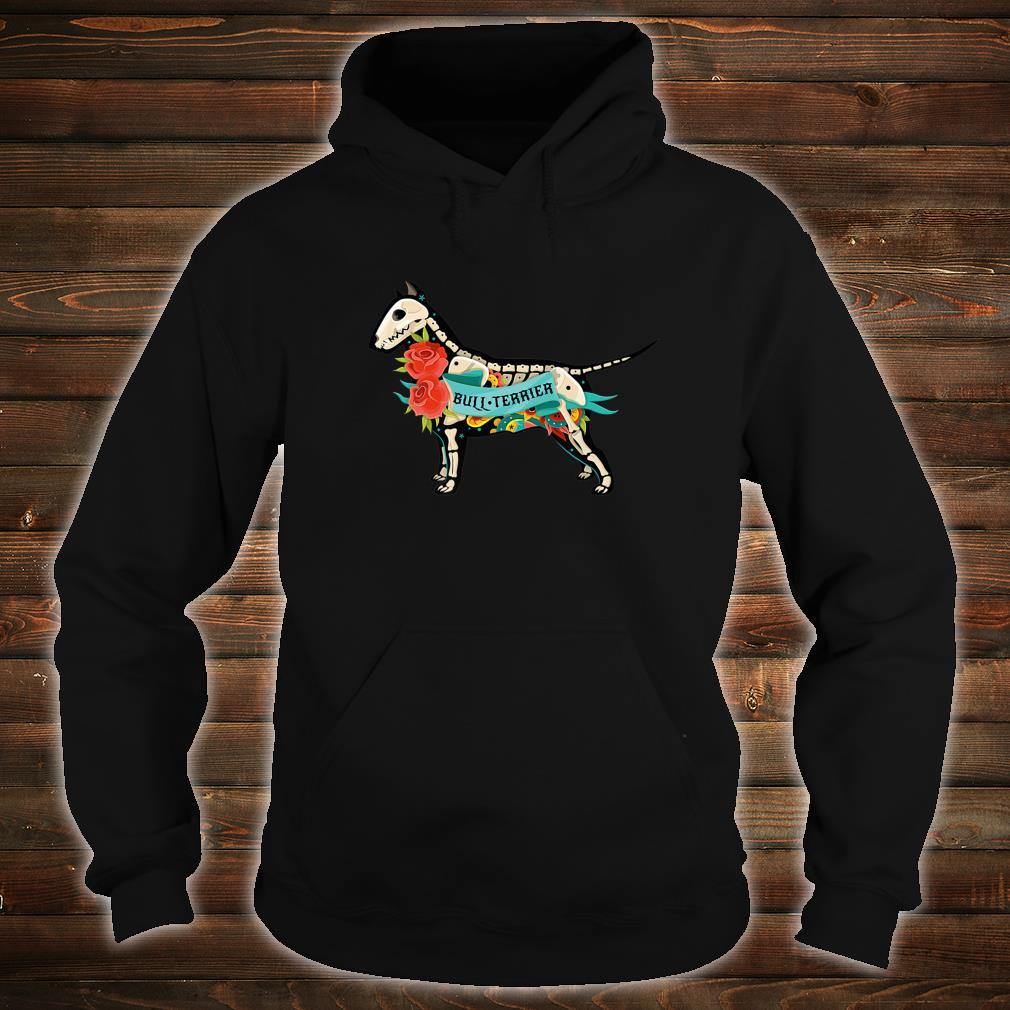 Pit Bull Terrier Day of Dead Inspired Dog Tattoo Style Shirt hoodie