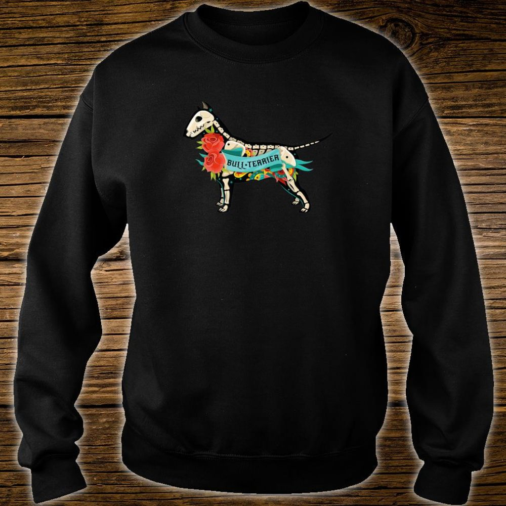 Pit Bull Terrier Day of Dead Inspired Dog Tattoo Style Shirt sweater