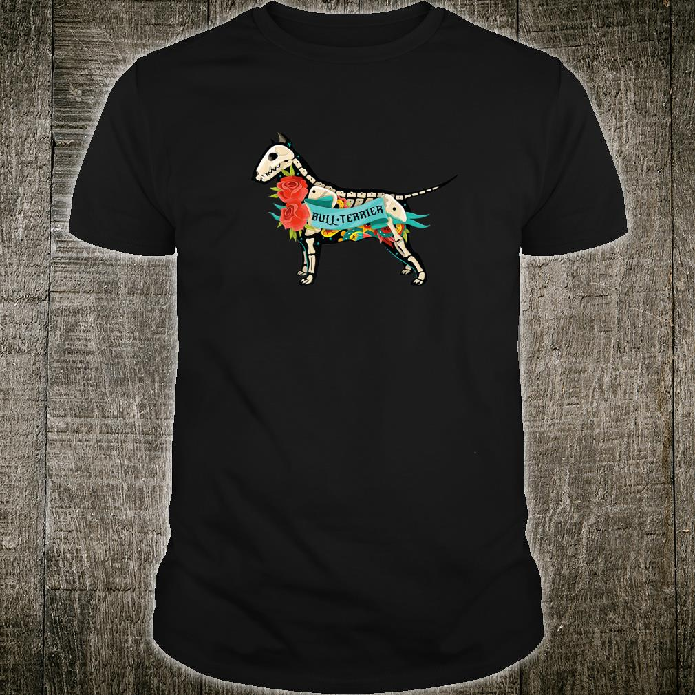 Pit Bull Terrier Day of Dead Inspired Dog Tattoo Style Shirt