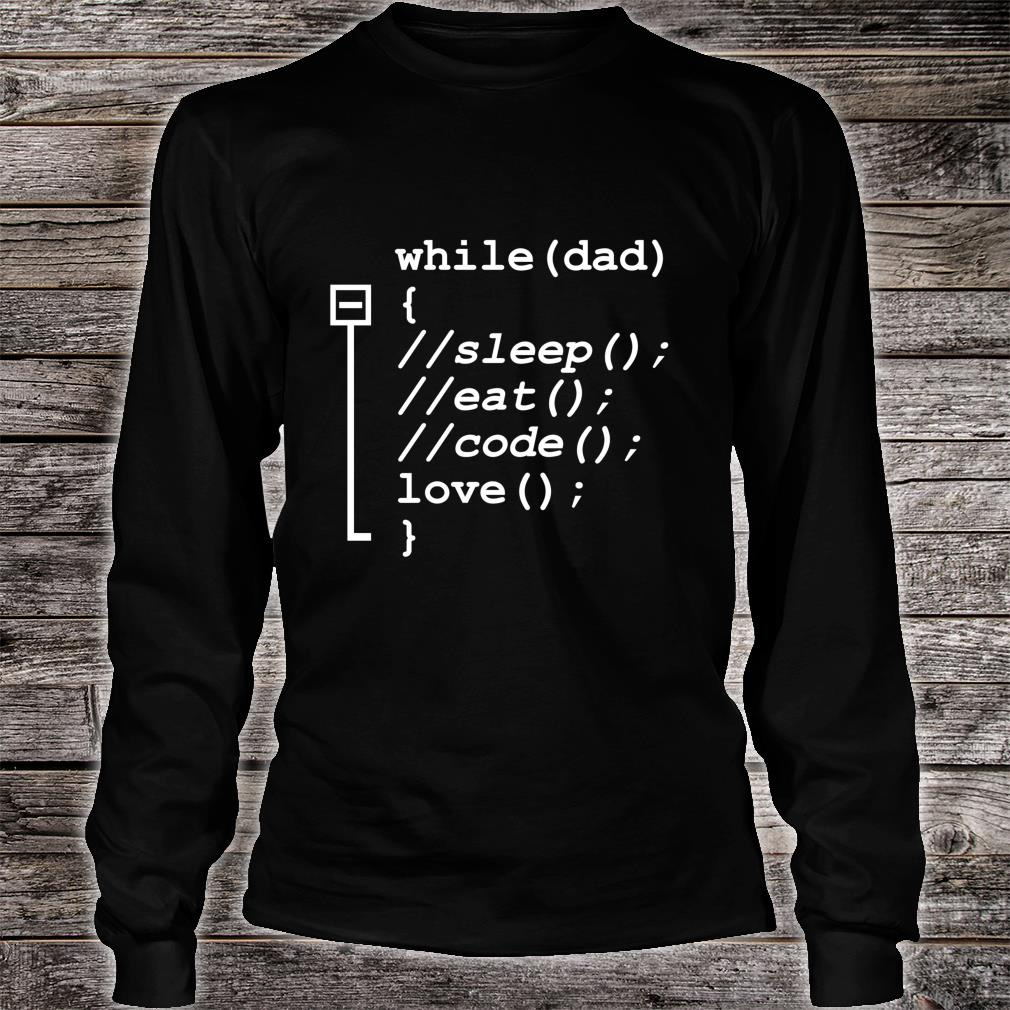 Programmer Dad Sleep, Eat, Code Father's Day Shirt long sleeved