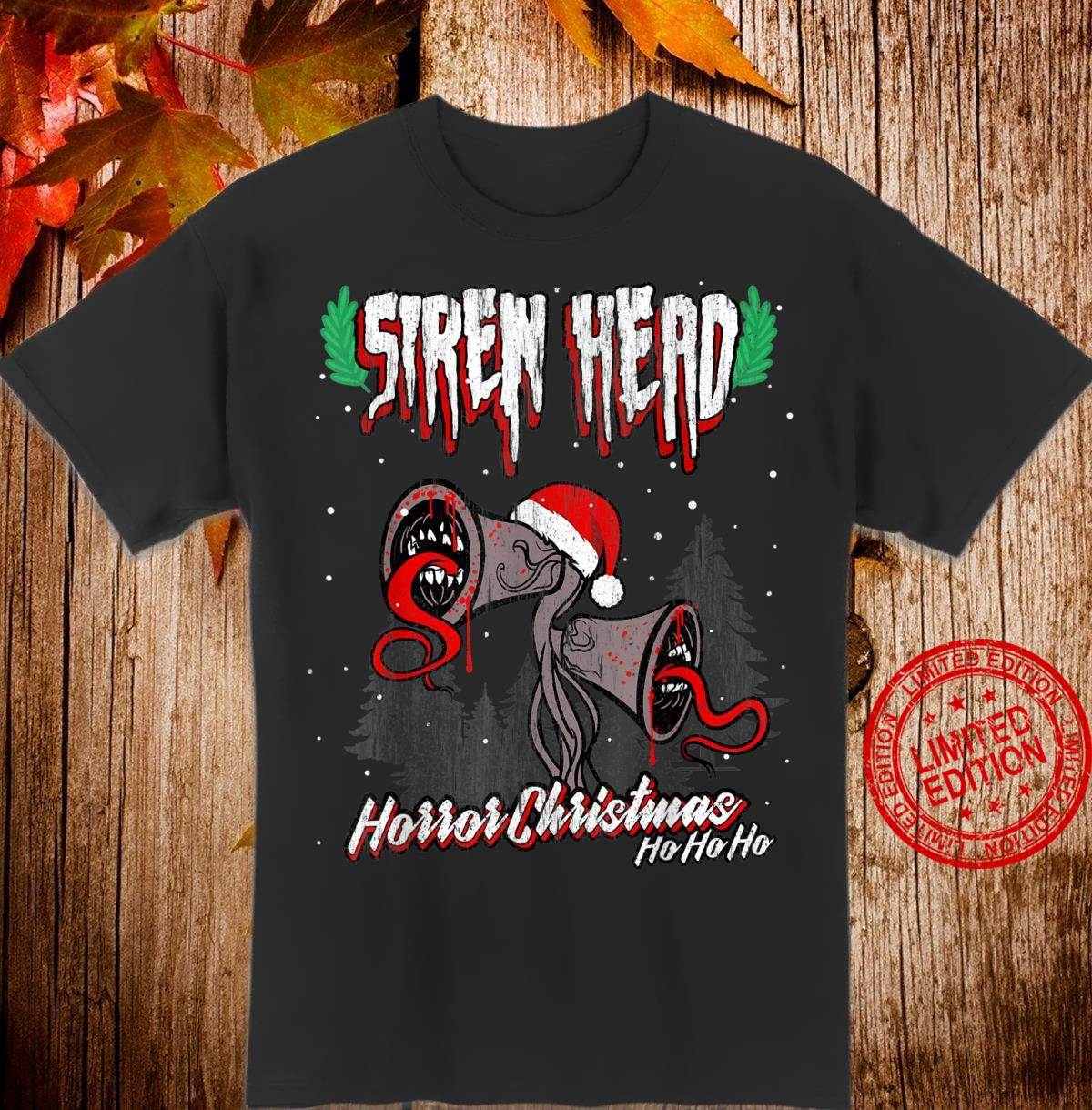 Scary Siren Head vintage horror Christmas meme Shirt
