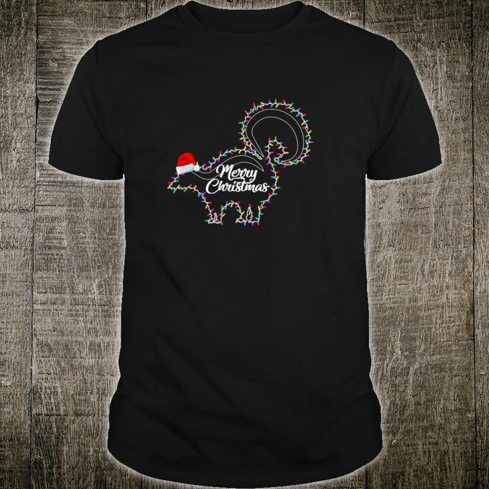 Skunk Christmas Lights Merry Christmas Shirt