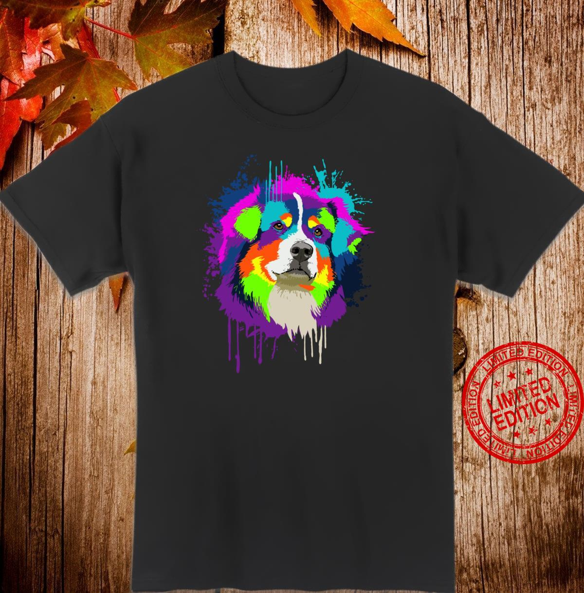 Splash Art Australian Shepherd Dog Owner Idea Dog Shirt