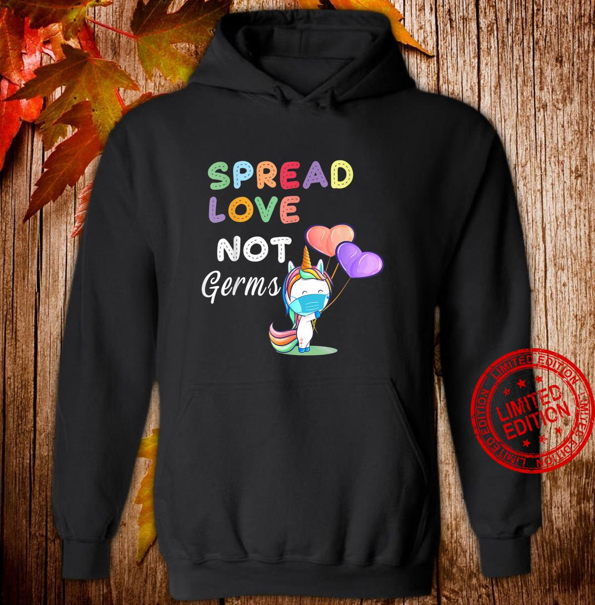 Spread Love Not Germs Shirt Cute Unicorn With Face Mask Shirt hoodie