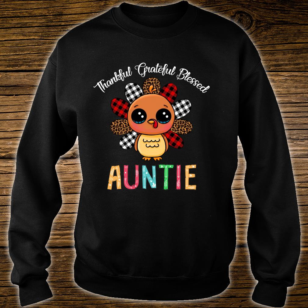 Thankful Grateful Blessed Auntie Turkey Thanksgiving Shirt sweater