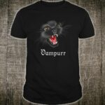 Vampire Cat Halloween Vampurr Kitty Cat Shirt
