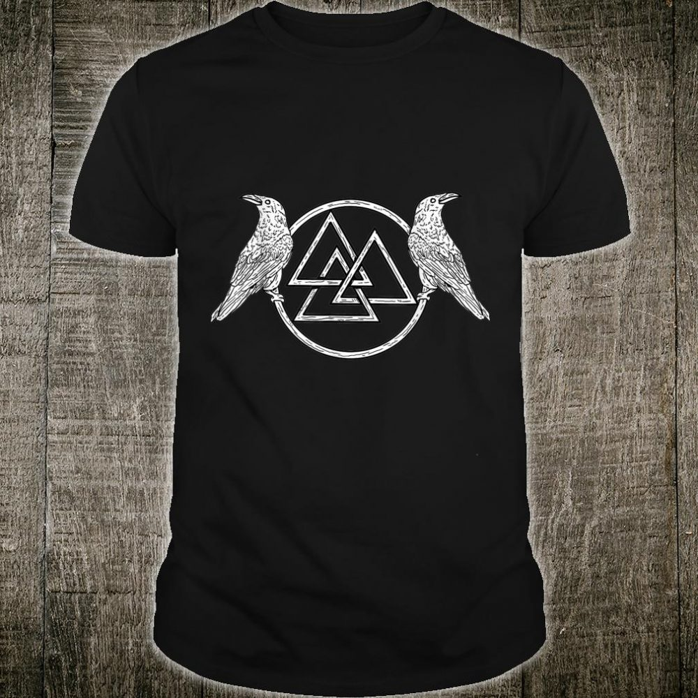 Viking Raven Odin Victory Or Valhalla Norse Shirt