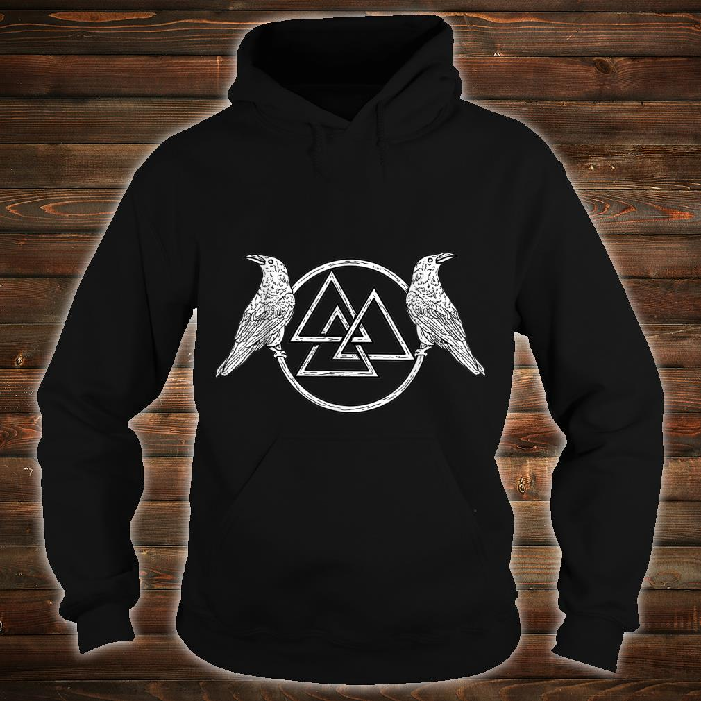 Viking Raven Odin Victory Or Valhalla Norse Shirt hoodie
