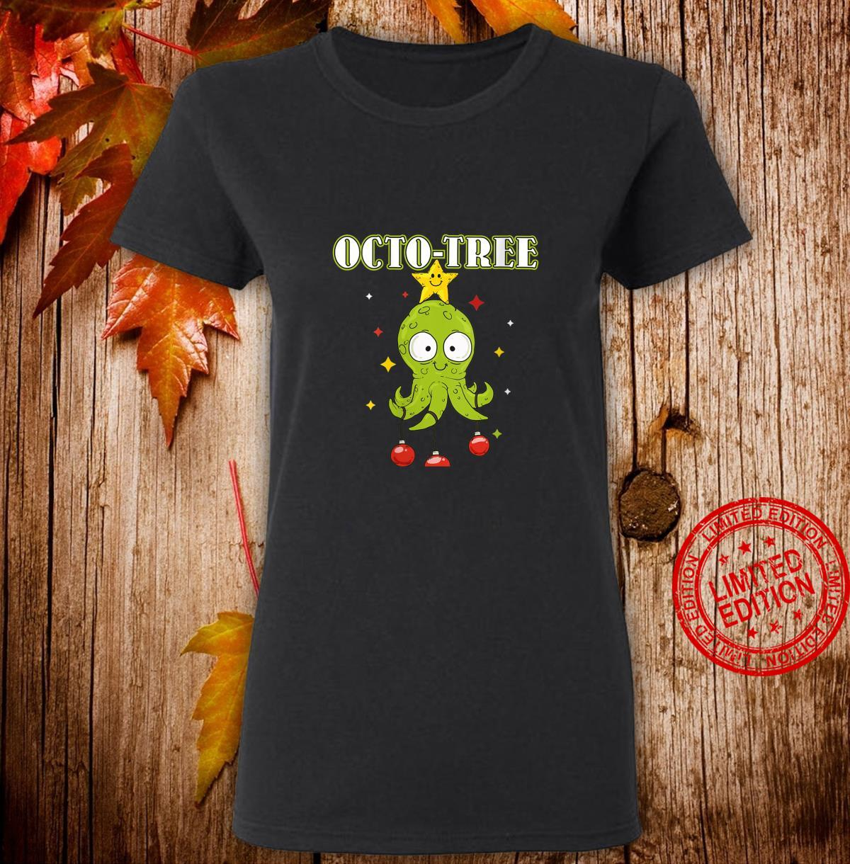 Womens OctoTree octopus christmas Shirt ladies tee