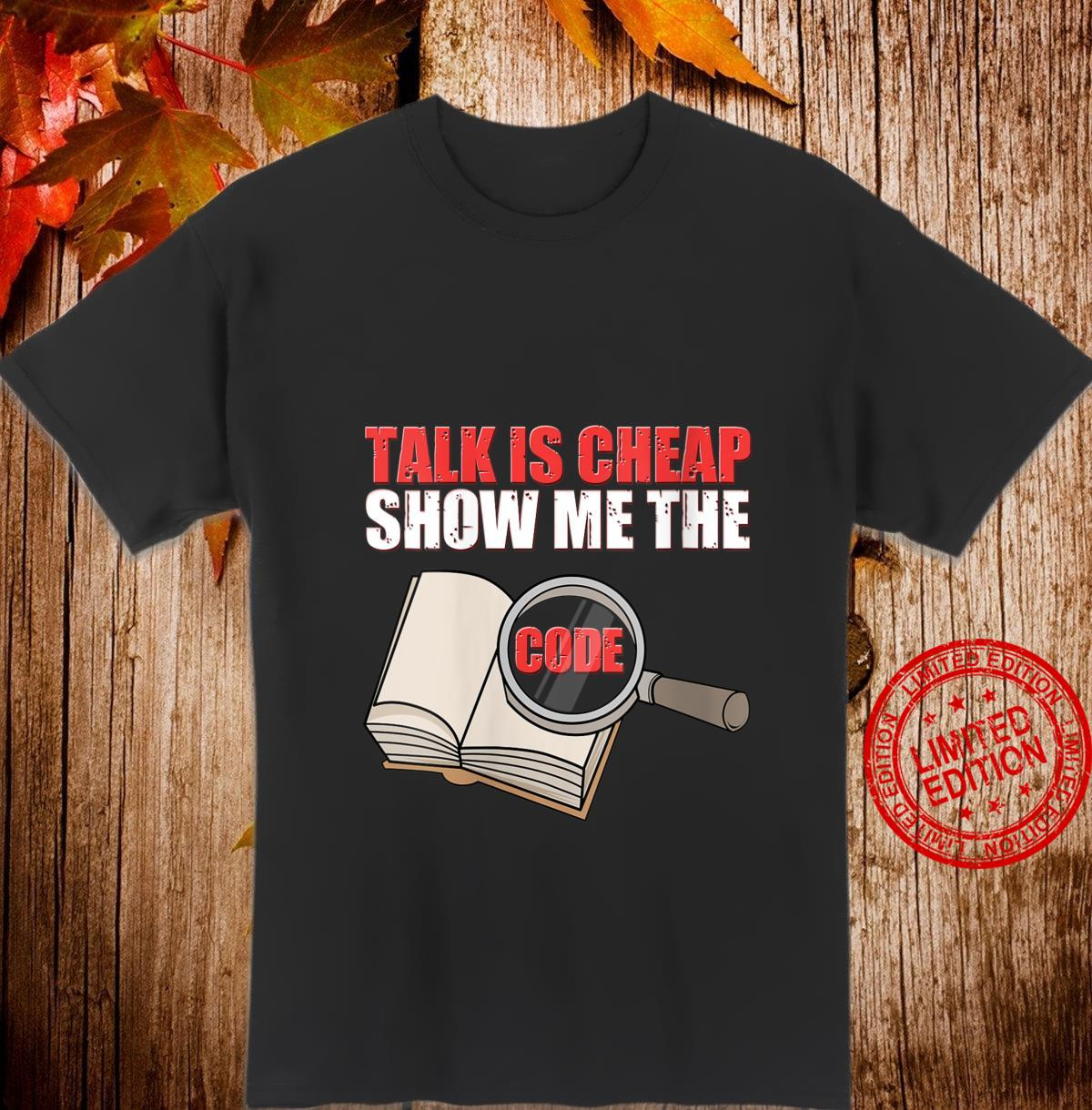 Womens Talk Is Cheap Show Me The Code It Engineer Shirt