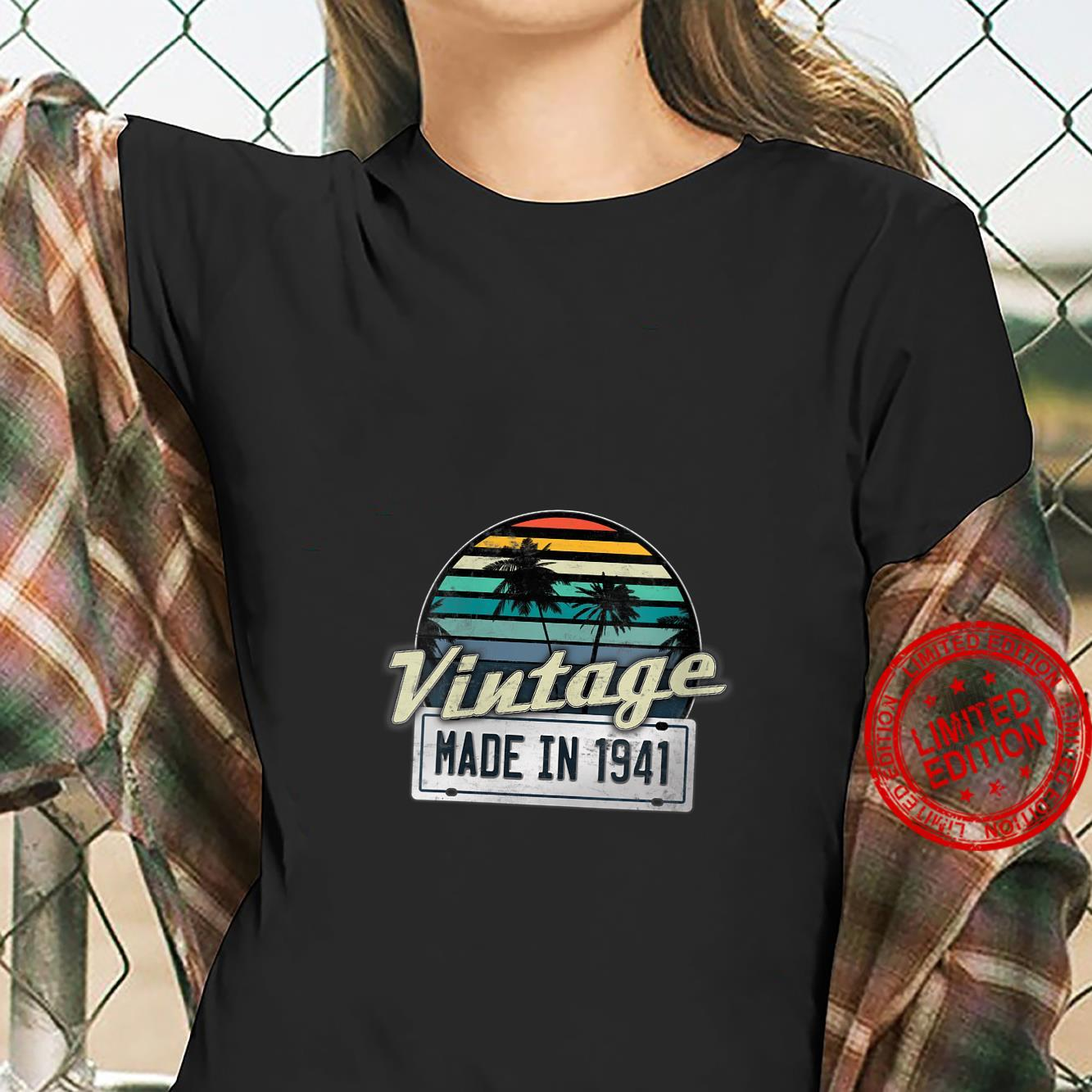 Womens Vintage Made In 1941 80th Birthday Shirt ladies tee