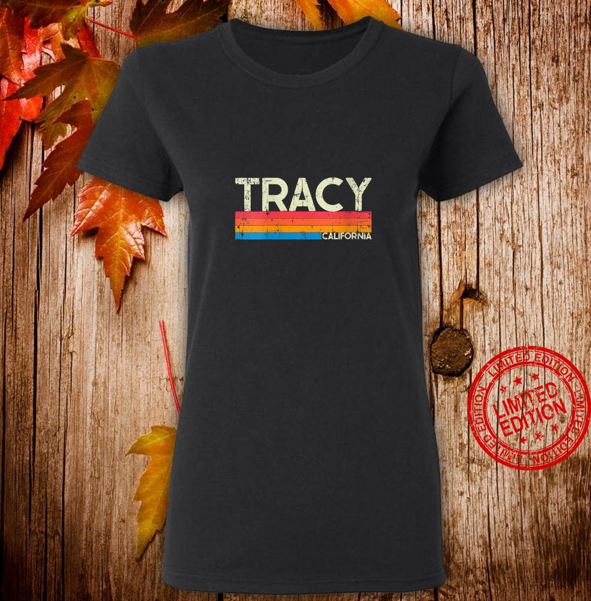 Womens Vintage Retro Tracy California Distressed Shirt ladies tee