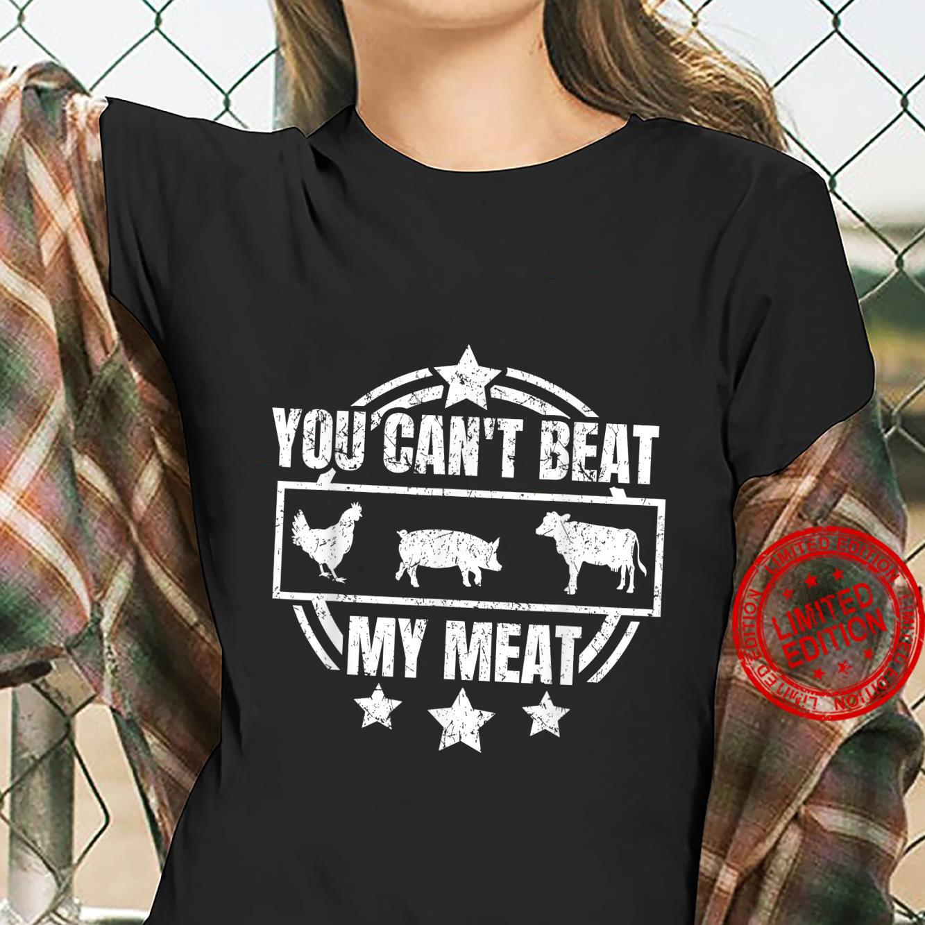 You Can't Beat My Meat Grilling for any Grill Chef Shirt ladies tee